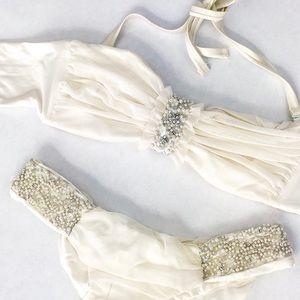 My Beach Bunny Bride White Pearl Bikini